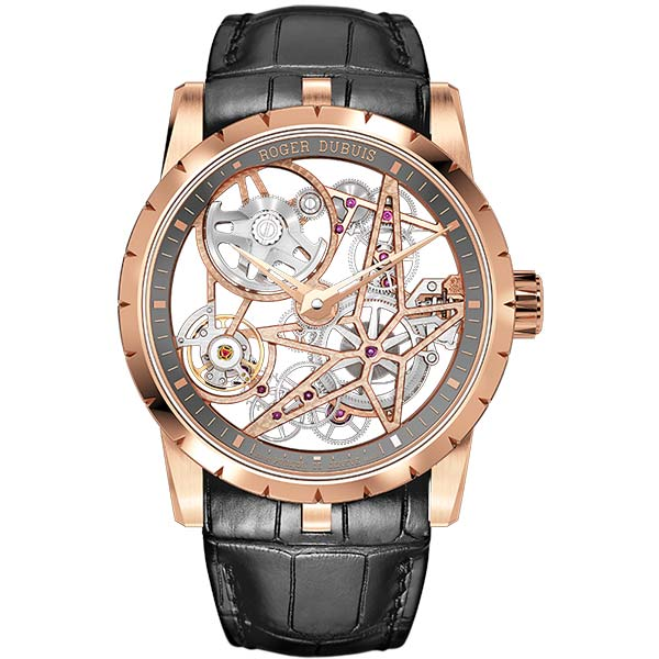 Швейцарские часы Roger Dubuis Excalibur Automatic Skeleton Golden фото