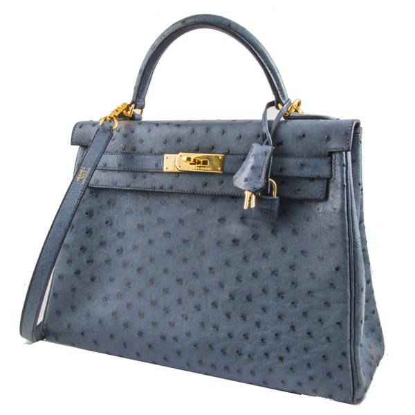 Аксессуары Hermes Kelly 32 Ostrich Sellier фото