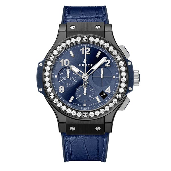 Швейцарские часы Hublot Big Bang Ceramic Blue Diamonds 41 mm фото