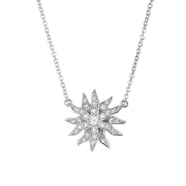 Ювелирные украшения Tiffany & Co Подвеска Platinum Diamond Lace Sunburst фото