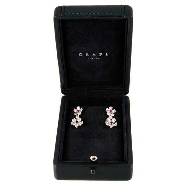 Ювелирные украшения Graff Diamond & Ruby Double Flower Earrings фото