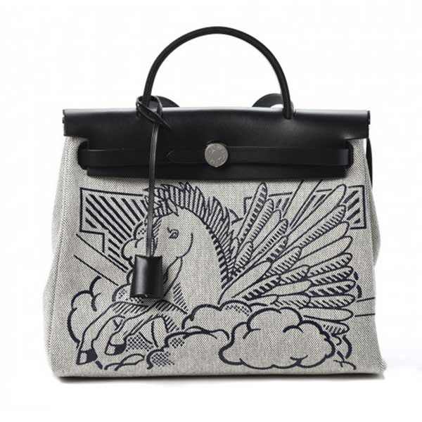 Аксессуары Hermes Herbag Zip 31 Pegasus Pop PM Toile/Vache Hunter Leather Special Edition фото
