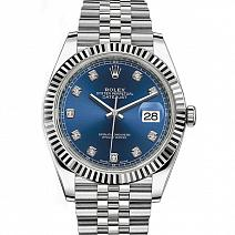 Швейцарские часы Rolex Datejust 41 Blue Diamond Dial Gold & Steel фото