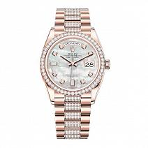 Часы Rolex Day-Date 36 mm White Mother-Of-Pearl Set With Diamonds фото