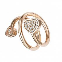 Ювелирные украшения Chopard Кольцо Happy Hearts Twist фото