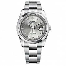 Швейцарские часы Rolex Datejust 36 mm Rhodium Roman фото