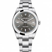 Швейцарские часы Rolex Oyster Perpetual 39 mm Dark Rhodium фото