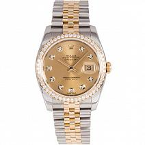 Швейцарские часы Rolex Datejust Steel and Yellow Gold Diamonds фото