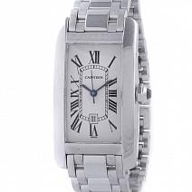 Швейцарские часы Cartier Tank Americaine Automatic White Gold фото