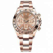 Часы Rolex Daytona Rose Gold Baguette Diamonds фото