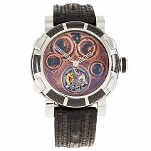 Швейцарские часы Romain Jerome Moon Dust Crisis Tourbillon Piece Unique 1/1 фото