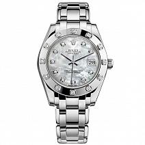 Швейцарские часы Rolex Pearlmaster White Gold 34 mm фото